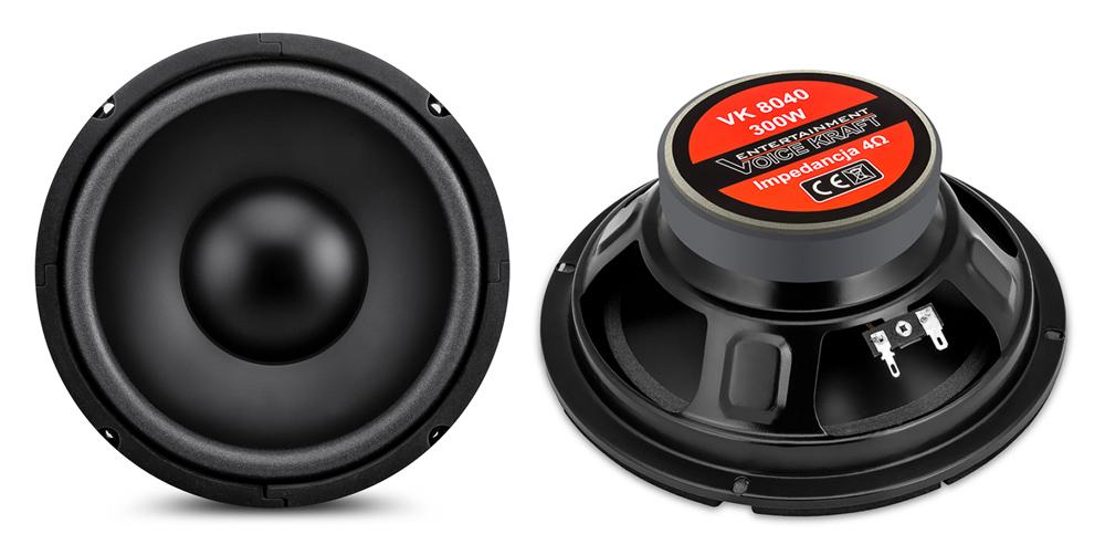 "VOICE KRAFT CLASSIC series woofer VK 8040-4, 4 Ohm, 8"", 120W RMS - VOICE KRAFT 27689"
