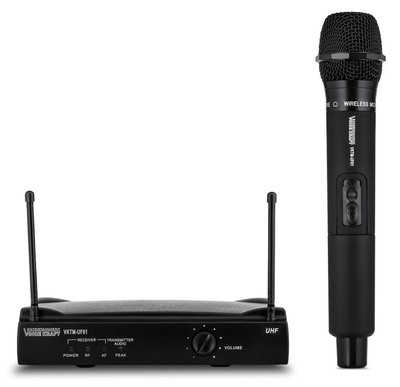 VOICE KRAFT Σετ ασύρματο μικρόφωνο με βάση, jack 6.3mm, μαύρη - VOICE KRAFT 27691