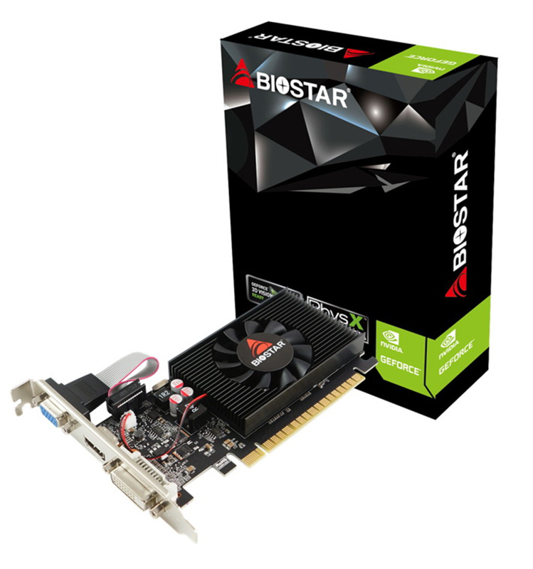 BIOSTAR VGA NVIDIA GeForce GT710 VN7103THX6 Low Profile, DDR3 2GB, 64bit - BIOSTAR 34971