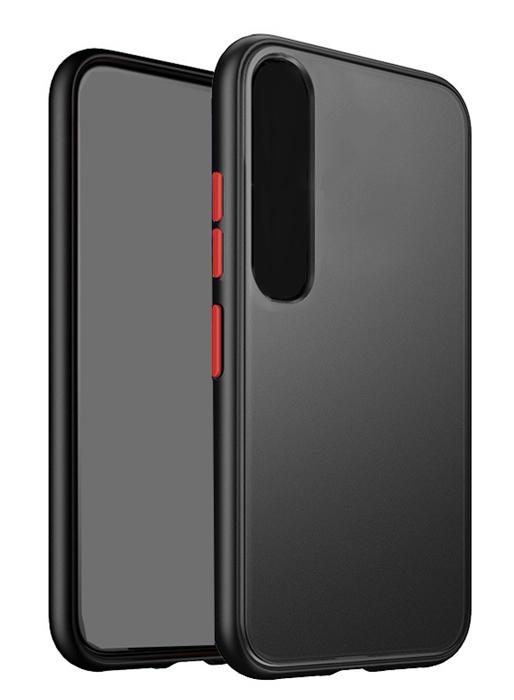VENNUS Θήκη Color Button VNS-0026 για Xiaomi Mi 10/10 Pro, μαύρη - VENNUS 30247