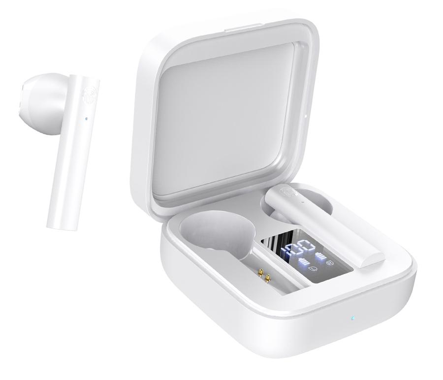 CELEBRAT earphones με θήκη φόρτισης W12, True Wireless, λευκά - CELEBRAT 42058