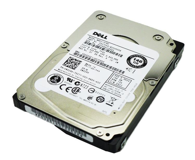 "DELL used SAS HDD W328K, 146GB 6G 15K 2.5"" με Tray - DELL 13967"