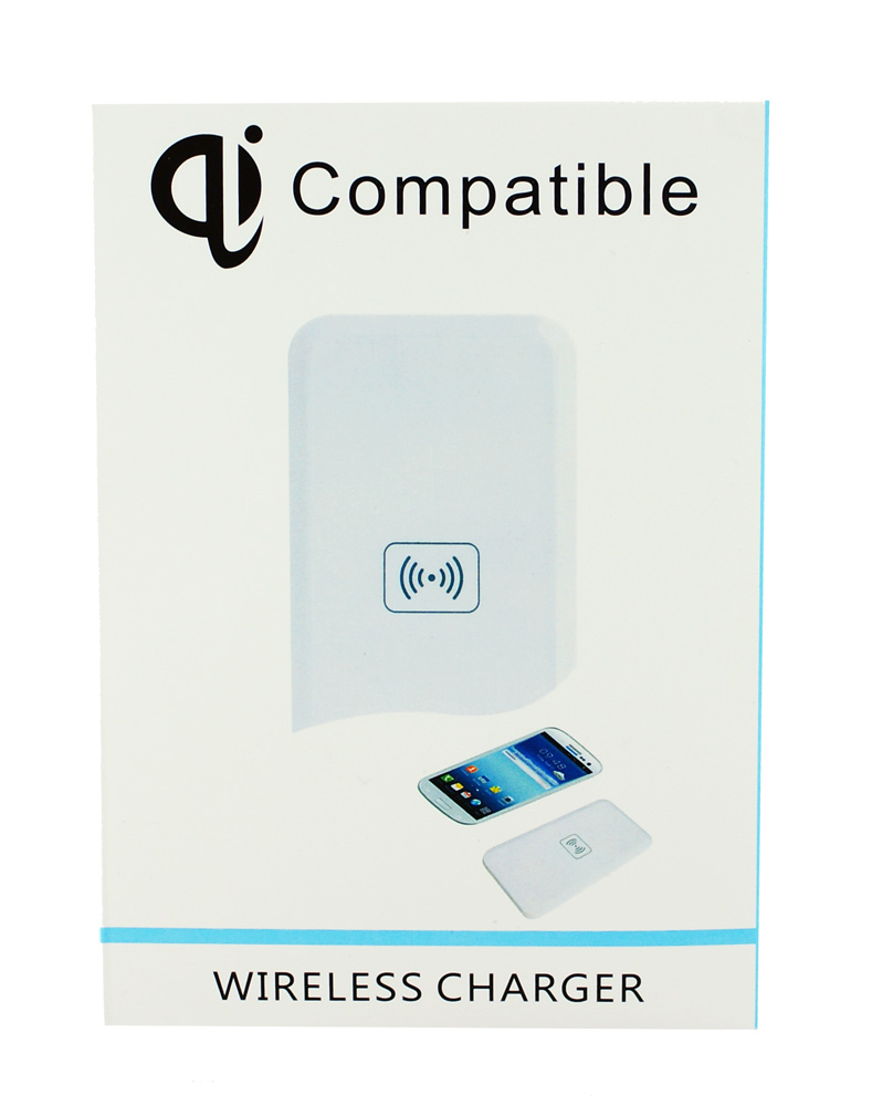 Wireless charger QI pad, 1A, White - BULK 14596
