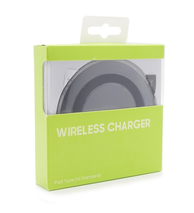 Wireless QI charger pad S6, 1A, Black - BULK 17765