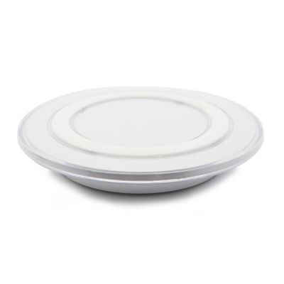 Wireless QI charger pad S6, 1A, White - UNBRANDED 17766