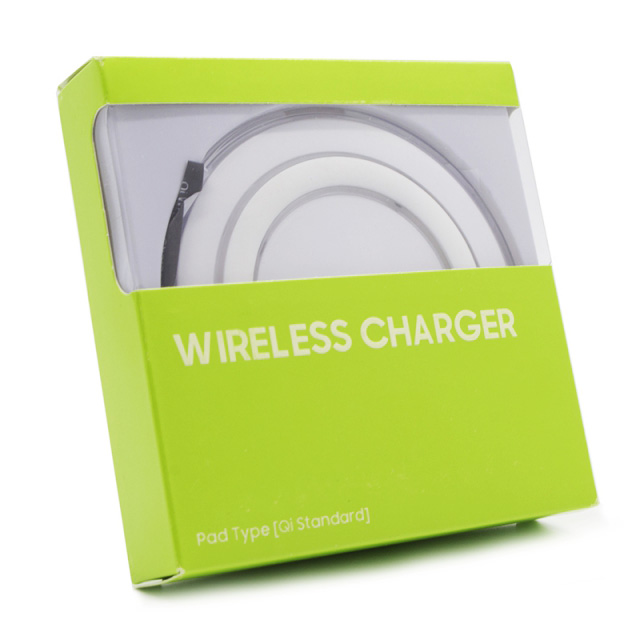 Wireless QI charger pad S6, 1A, White - BULK 17766
