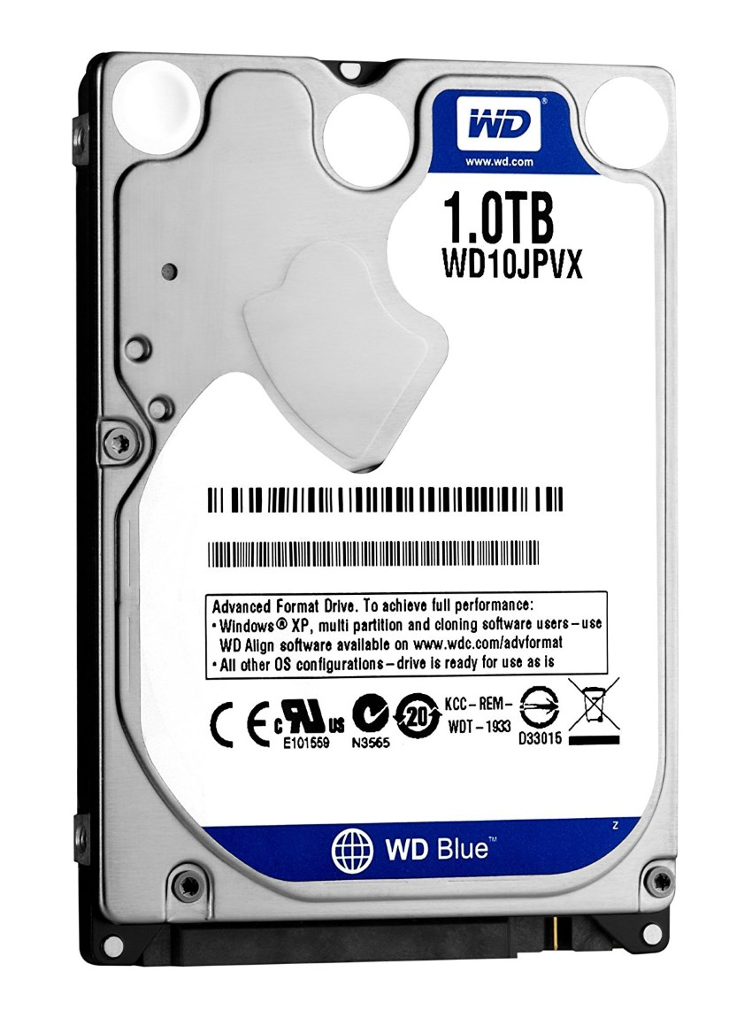 """WD Σκληρός Δίσκος Blue WD10JPCX, 2.5"""" 1TB, 8MB Cache, 5400RPM, 6Gb/s - WD 15324"""