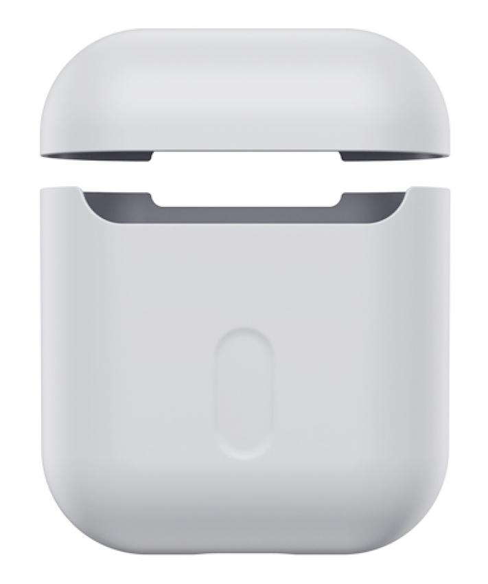 BASEUS θήκη σιλικόνης WIAPPOD-BZ0G για Apple Airpods 1st & 2nd gen, γκρι - BASEUS 34849