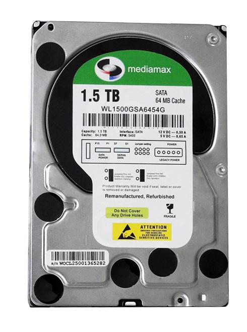"""MEDIAMAX Σκληρός Δίσκος 3.5"""", 1.5TB, 64MB, 5400RPM, SATA II, New - MEDIAMAX 16020"""