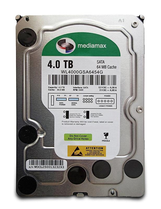 """MEDIAMAX Σκληρός Δίσκος 3.5"""", 4TB, 64MB, 5400RPM, SATA II, New - MEDIAMAX 16021"""