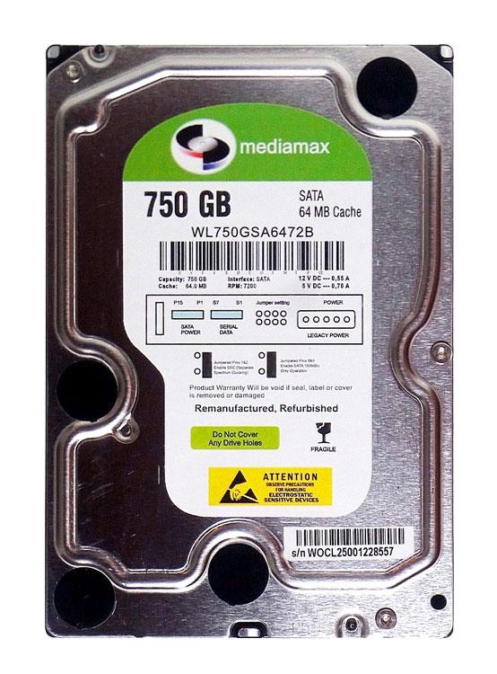 """MEDIAMAX Σκληρός Δίσκος 3.5"""", 750GB, 64MB, 7200RPM, SATA II, New - MEDIAMAX 16019"""