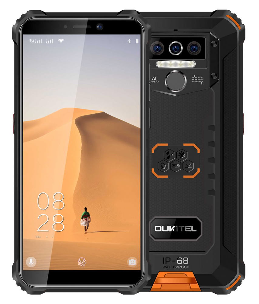 "OUKITEL Smartphone WP5, 5.5"", 4/32GB, Quadcore, IP68, 8000mAh, πορτοκαλί - OUKITEL 28703"