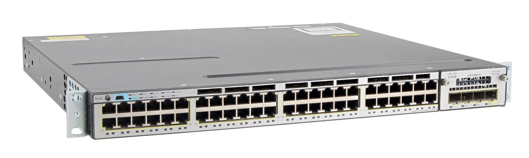 CISCO used Catalyst Switch C3750X-48P-S, 48 ports PoE, managed - CISCO 34385
