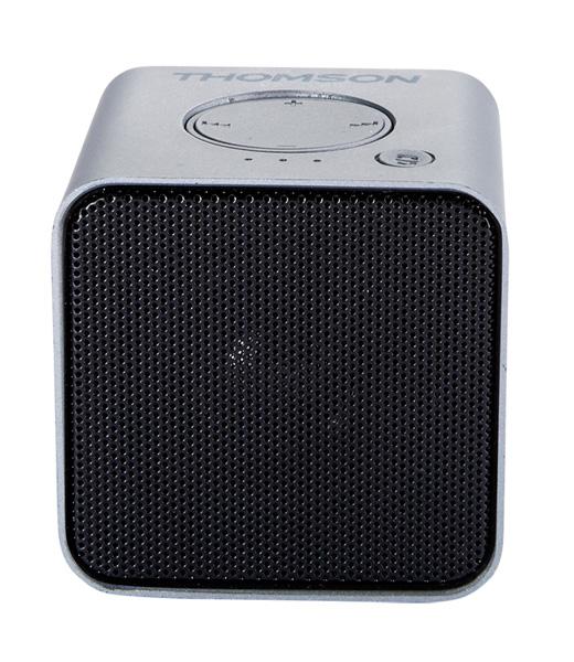 THOMSON Φορητό ηχείο WS01GM με μικρόφωνο, bluetooth/SD/AUX in, 3W, ασημί - THOMSON 18503