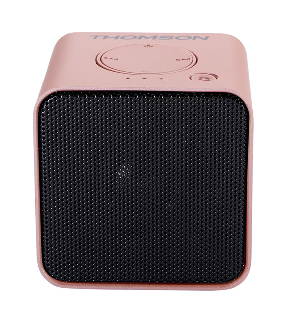 THOMSON Φορητό ηχείο WS01RSM με μικρόφωνο, bluetooth/SD/AUX in, 3W, rose gold - THOMSON 18504