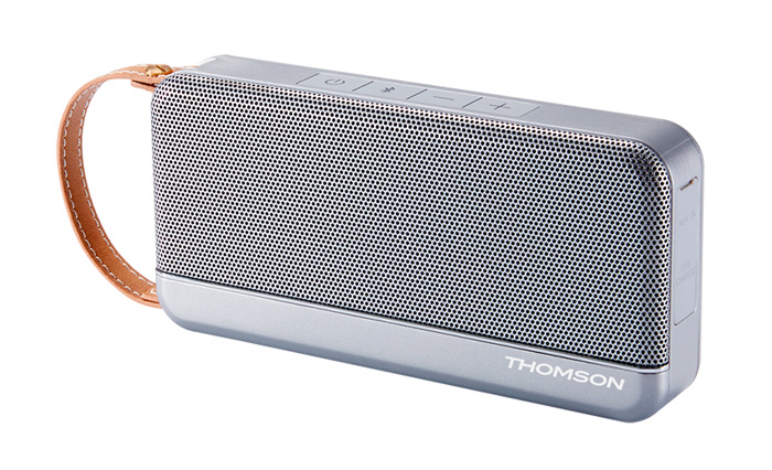 THOMSON Φορητό ηχείο WS02GM, NFC, bluetooth, AUX in, 12W, 1200mAh, ασημί - THOMSON 18515