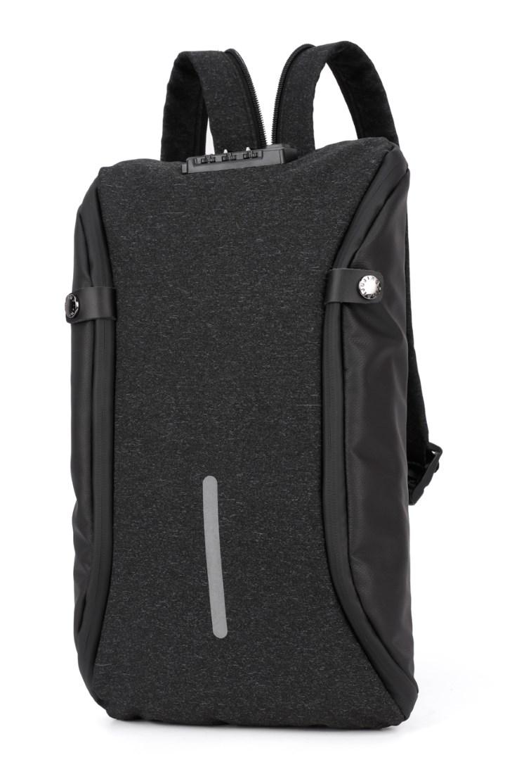 ARCTIC HUNTER τσάντα crossbody XB00046-BK, αδιάβροχη, lock, μαύρη - ARCTIC HUNTER 22801