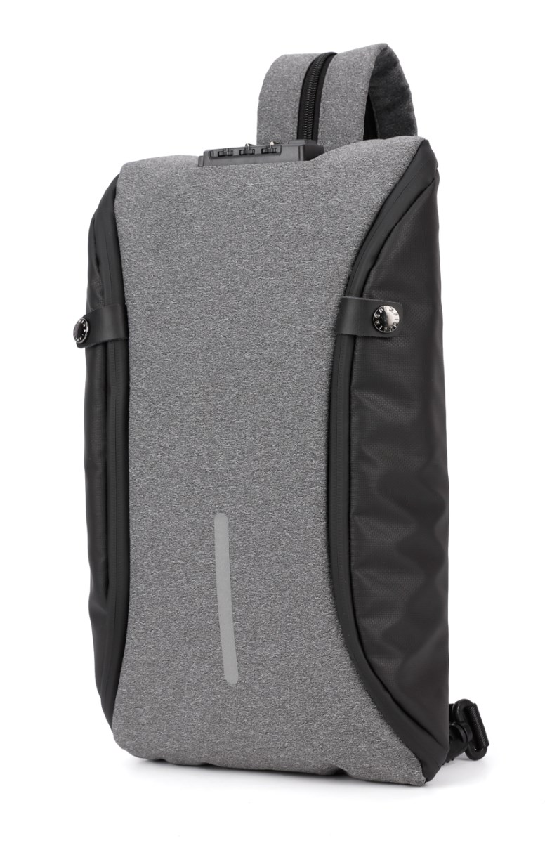 ARCTIC HUNTER τσάντα crossbody XB00046-DG, αδιάβροχη, lock, σκούρο γκρι - ARCTIC HUNTER 22802