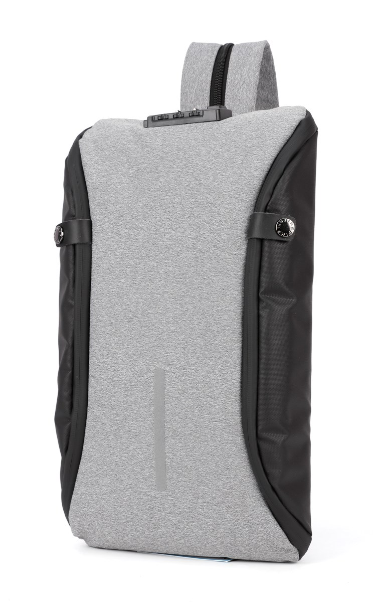 ARCTIC HUNTER τσάντα crossbody XB00046-LG, αδιάβροχη, lock, ανοιχτό γκρι - ARCTIC HUNTER 22803