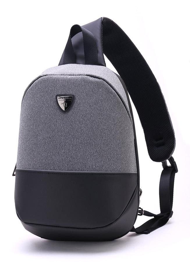 ARCTIC HUNTER τσάντα Crossbody XB00050-LG, tablet, αδιάβροχη, γκρι - ARCTIC HUNTER 28231