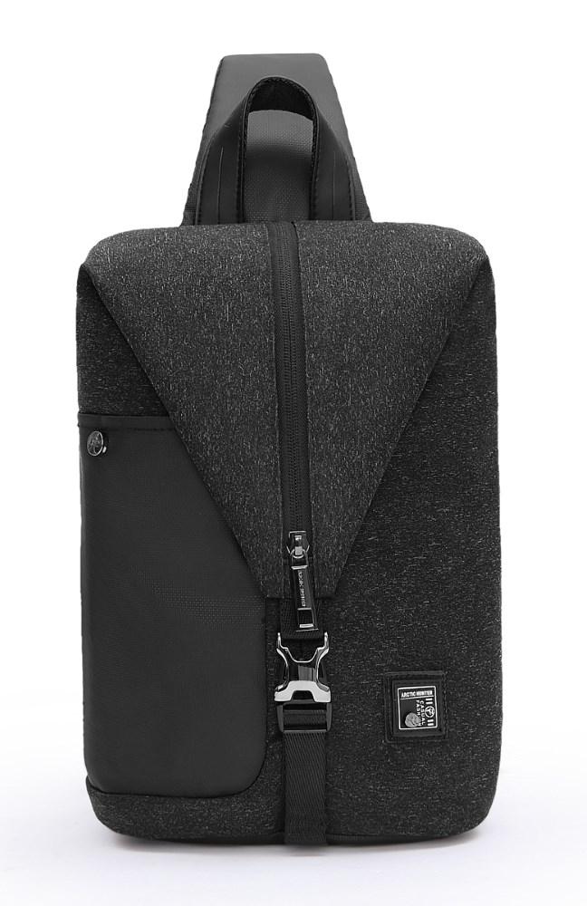 ARCTIC HUNTER τσάντα Crossbody XB00061-DG, αδιάβροχη, μαύρη - ARCTIC HUNTER 22813