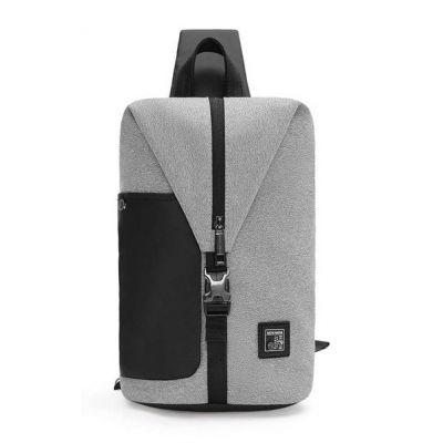 ARCTIC HUNTER τσάντα Crossbody XB00061-DG, αδιάβροχη, ανοιχτό γκρι - ARCTIC HUNTER 22815