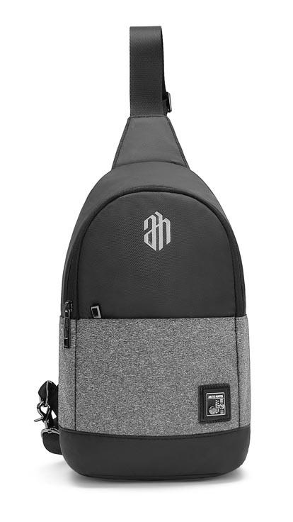 ARCTIC HUNTER τσάντα Crossbody XB00064-BK, αδιάβροχη, σκούρο γκρί - ARCTIC HUNTER 22817