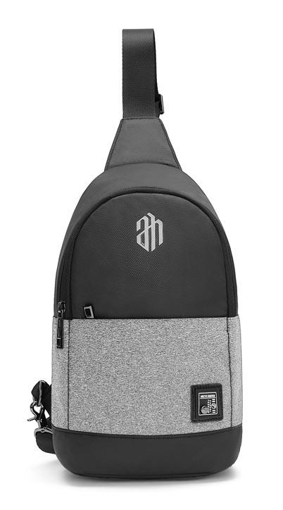 ARCTIC HUNTER τσάντα Crossbody XB00064-LG, αδιάβροχη, ανοιχτό γκρί - ARCTIC HUNTER 22818