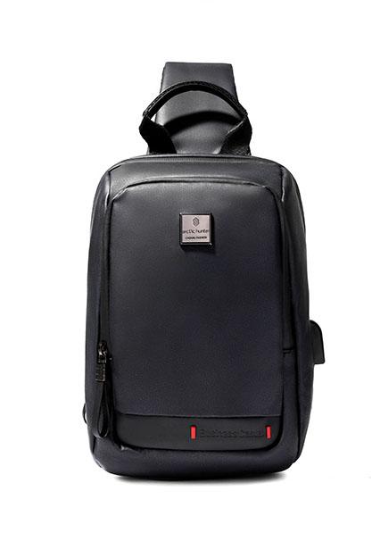 ARCTIC HUNTER Τσάντα Crossbody XB00088-BK, USB, αδιάβροχη, μαύρη - ARCTIC HUNTER 22789