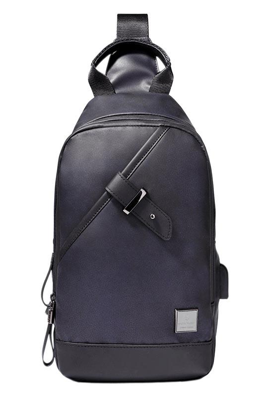 ARCTIC HUNTER Τσάντα Crossbody XB00089-BK, USB, αδιάβροχη, μαύρη - ARCTIC HUNTER 22790