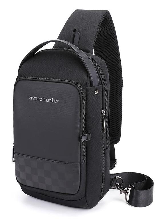 ARCTIC HUNTER Τσάντα Crossbody XB00105-BK, USB, αδιάβροχη, μαύρο - ARCTIC HUNTER 27038