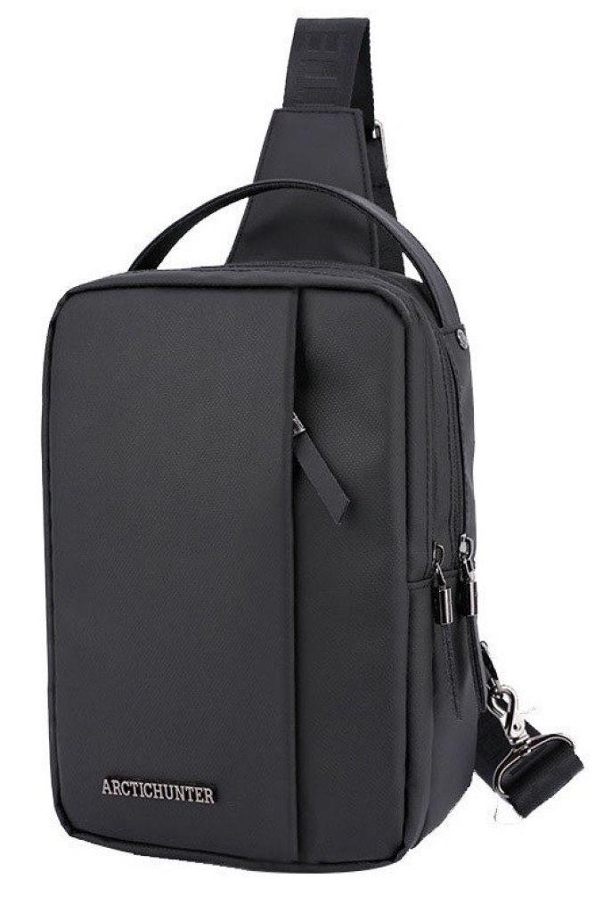 ARCTIC HUNTER Τσάντα Crossbody XB130027-BK, αδιάβροχη, μαύρη - ARCTIC HUNTER 28243