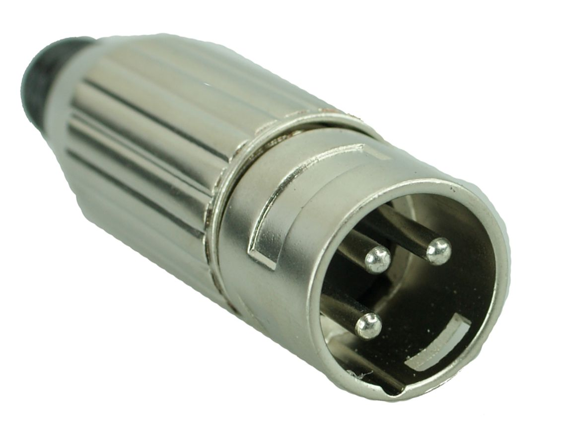XLR 3 PIN Male, Silver - UNBRANDED 10011