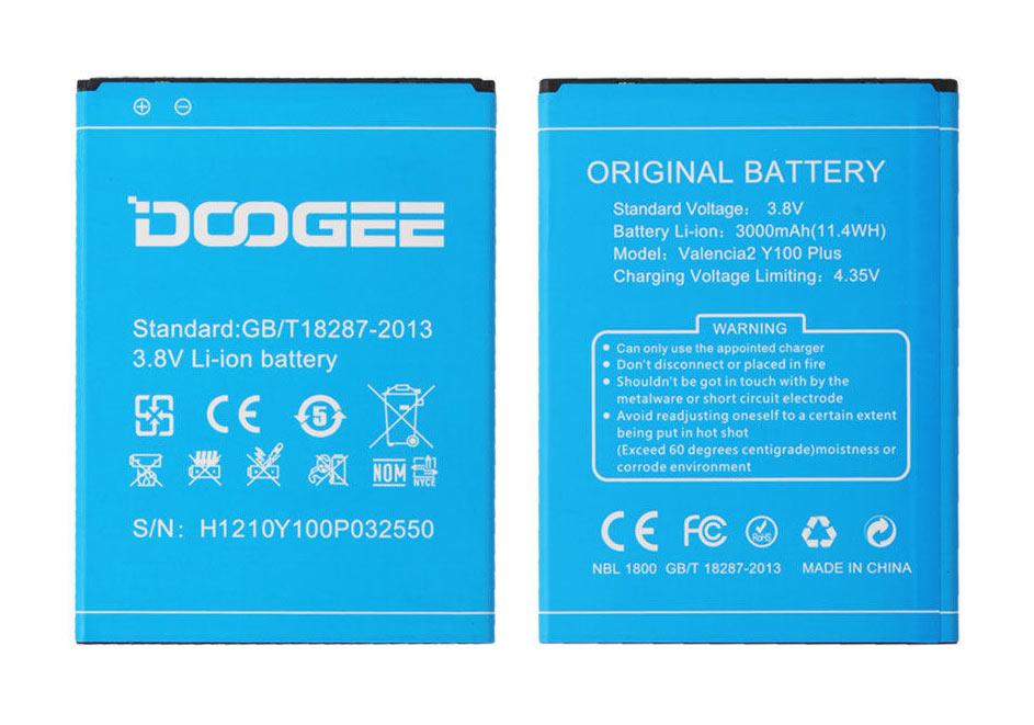 DOOGEE Μπαταρία αντικατάστασης για Smartphone Y100 Plus - DOOGEE 11672
