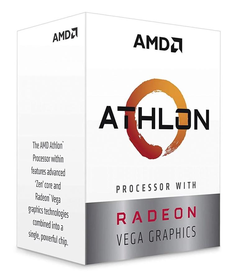 AMD CPU Athlon 3000G, 3.5GHz, 2 Cores, AM4, 5MB, Radeon Vega 3 Graphics - AMD 27610