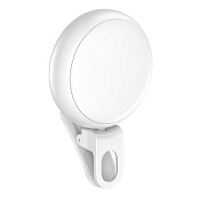 USAMS LED προβολέας για selfie, RGB led, 300mAh, λευκός - USAMS 29722