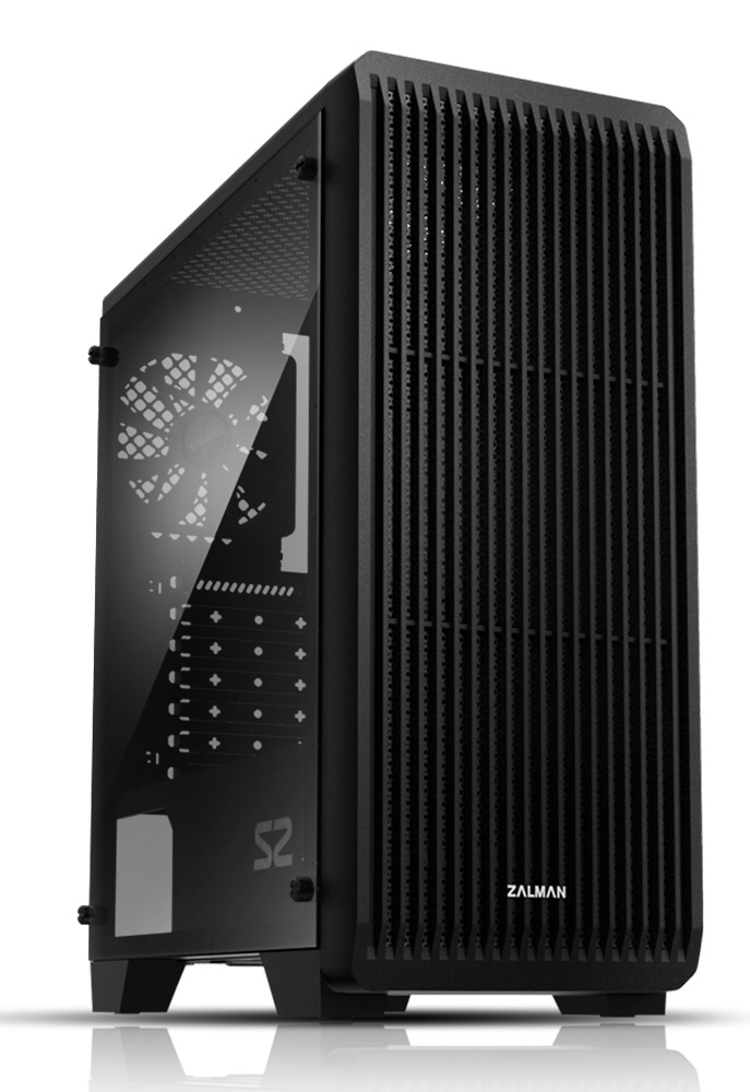 ZALMAN PC case S2, mid tower, 412x189x451mm, 1x fan, διάφανο πλαϊνό - ZALMAN 31221