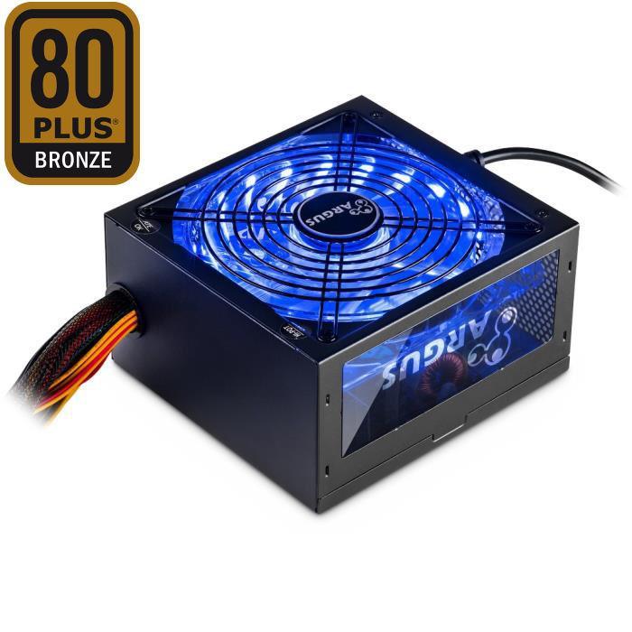 Psu ATX Inter-Tech  Argus RGB-600W 80+ Bronze - INTER-TECH DOM020120