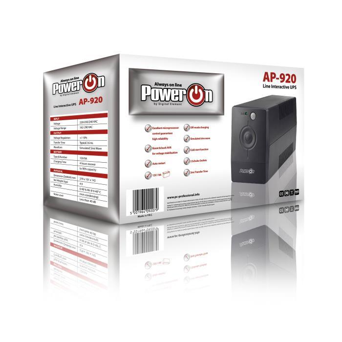 Ups 920VA Power On AP-920 - POWER ON DOM050045