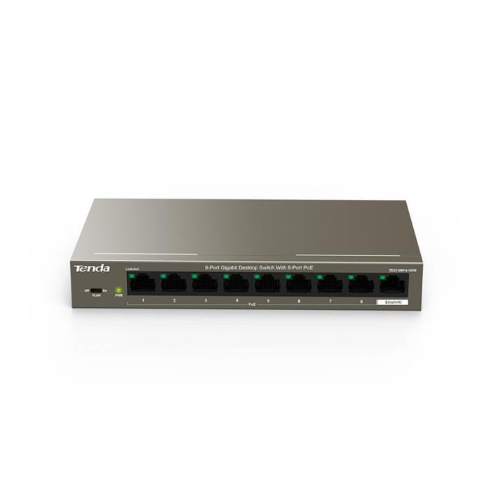 Gigabit 9port Switch POE Tenda TEG1109P - TENDA DOM070100