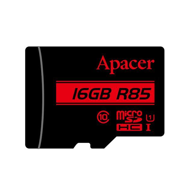 Memory Card Micro SDHC UHS-I U1 Class10 16GB Apacer R85 - APACER DOM110137
