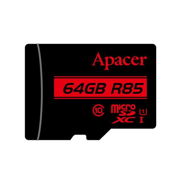 Memory Card Micro SDHC UHS-I U1 Class10 64GB Apacer R85 - APACER DOM110139