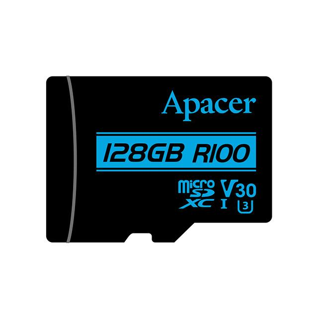 Memory Card Micro SDXC UHS-I U3 Class10 128GB Apacer V30 R100 - APACER DOM110155