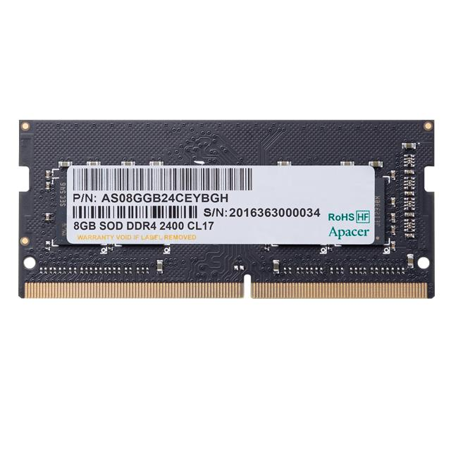 Memory 4GB 2400MHz CL17 DDR4 SODIMM Apacer RP - APACER DOM110169