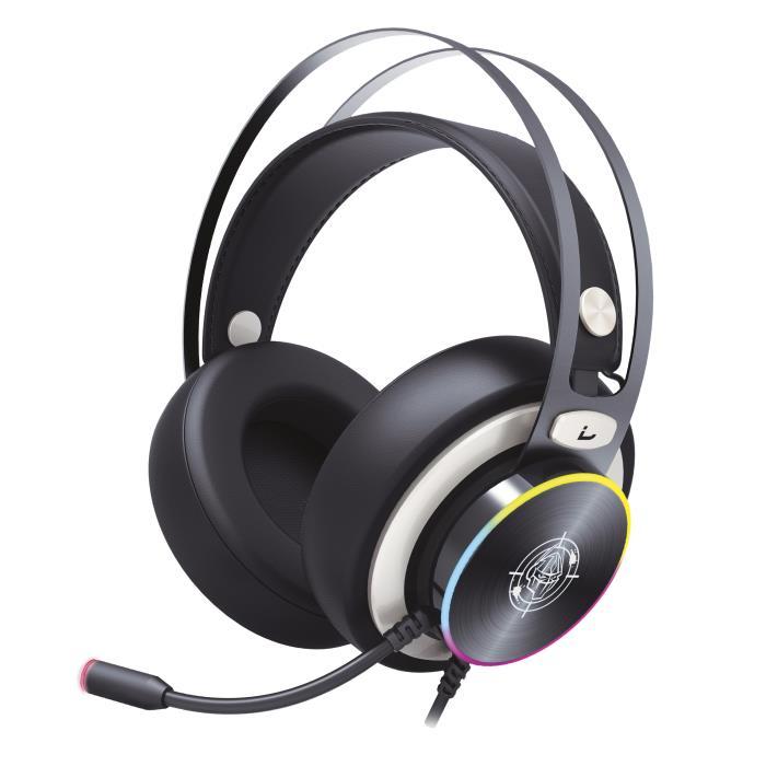 Headphone Zeroground RGB USB 7.1 HD-2800G SOKUN - ZEROGROUND DOM220057