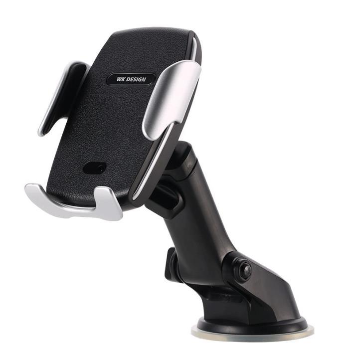Wireless Charging Holder for Smartphone WK WP-U44 Black - DOM250467