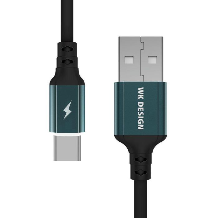Charging Cable WK TYPE-C Black 1m WDC-073 Auto Cut-Off - DOM250491