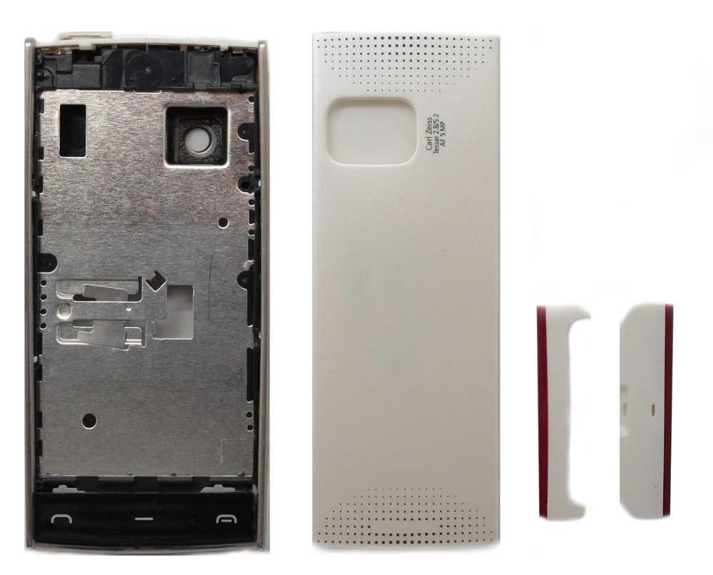 Πρόσοψη Nokia X6-00 με πληκτρολόγιο Λευκή OEM