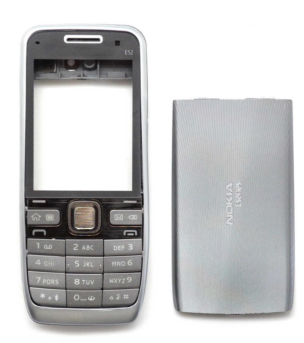 Πρόσοψη Nokia E52 χωρίς πληκτρολόγιο Ασημί OEM