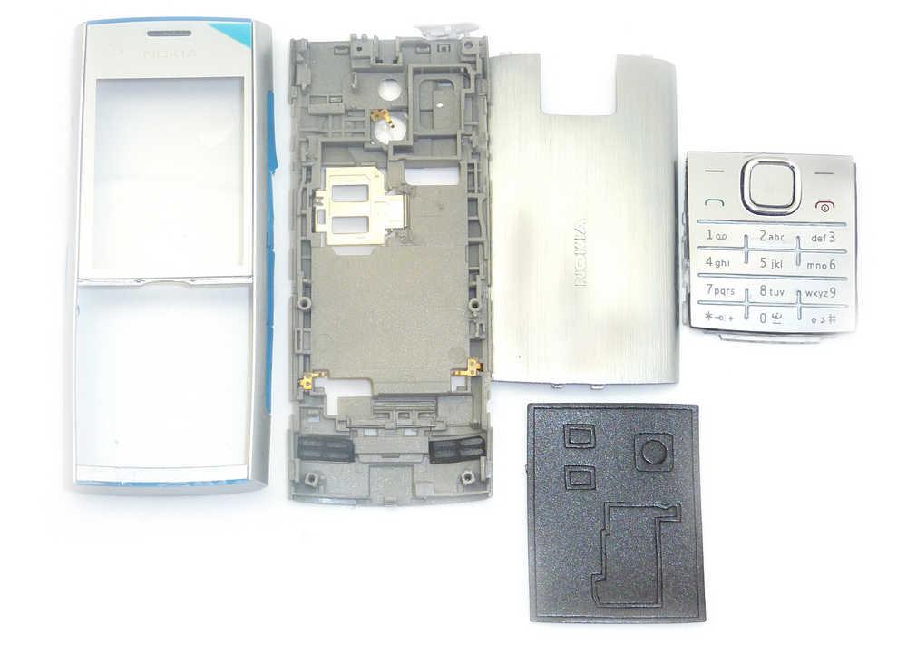 Πρόσοψη Nokia X2-00 με πληκτρολόγιο Ασημί OEM